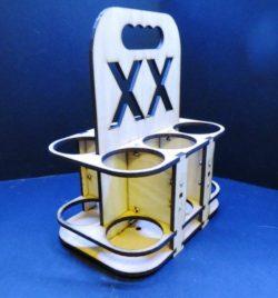 Cnc Laser Cut Wooden Box Six Beer Xx Free CDR Vectors Art