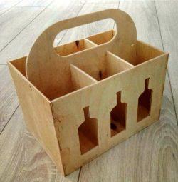 Cnc Laser Cut Wooden Box Six Wine Free CDR Vectors Art