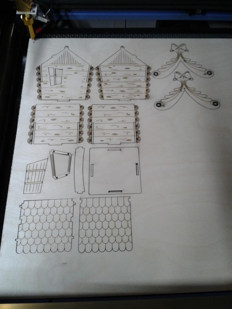 Cnc Laser Cutting Replica Box House Design Art Free CDR Vectors Art