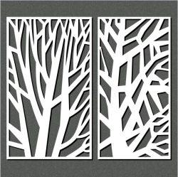 Cnc Laser Cut The Tree Has Sharp Lines Free CDR Vectors Art