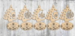 Cnc Laser Cut Tree Decorated Day Download Free CDR Vectors Art