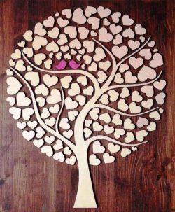 Cnc Laser Cut Tree Of Hearts Free CDR Vectors Art