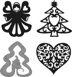 Cnc Laser Cut Tree Ornaments Free CDR Vectors Art
