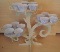 Cnc Laser Cut Tree Shaped Cake Tray With 3 Floors Free CDR Vectors Art