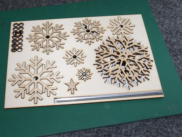 Laser Cut Christmas Tree Flat Pack Free CDR Vectors Art