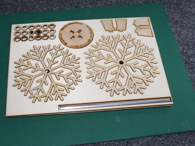 Laser Cut Flat Pack Christmas Tree Free CDR Vectors Art