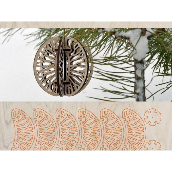 Mandarin Christmas Tree Ornament Free CDR Vectors Art