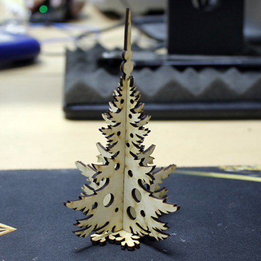 Wooden Christmas Tree For Laser Cut Project Plan Free CDR Vectors Art