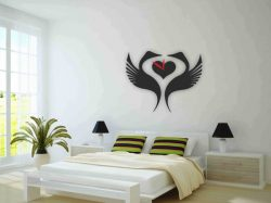 Cnc Laser Cut The Swan Clock In The Bedroom Plasma Free CDR Vectors Art