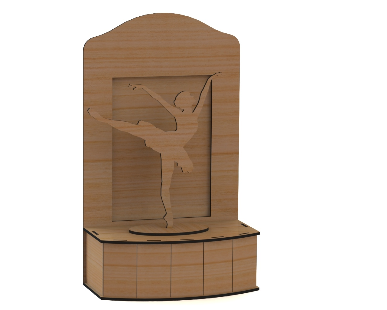 Laser Cut Ballerina On Stage 3d Puzzle Free DXF File