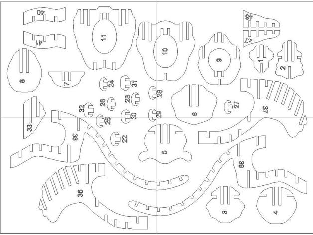 Laser Cut Tiger Bbq 3mm Puzzle 1 Free DXF File
