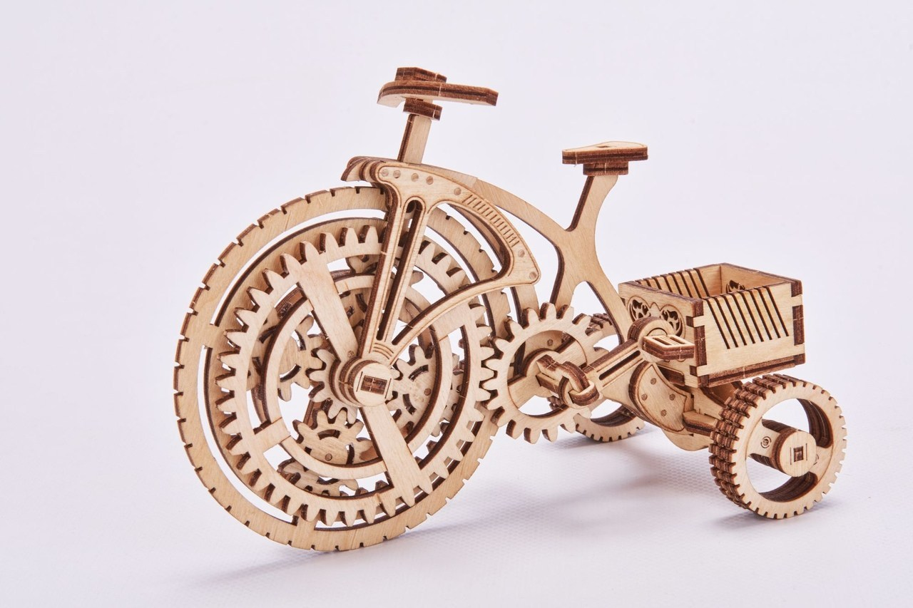 Laser Cut Bicycle Puzzle Free CDR Vectors Art