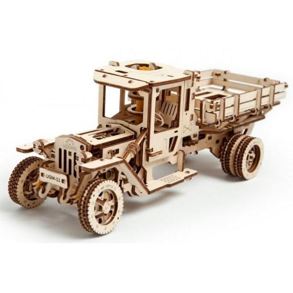 Wooden Loader Truck Puzzle Plan Free CDR Vectors Art