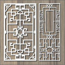 Cnc Laser Cut Square Hook Pattern Free CDR Vectors Art