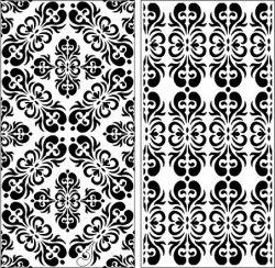Cnc Laser Cut Symmetrical Pattern Panel Screen Free CDR Vectors Art