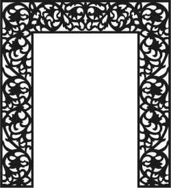 Cnc Laser Cut The Pattern Of The Partition Of The Altar Free CDR Vectors Art
