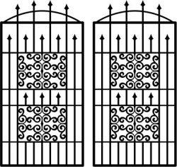 Cnc Laser Cut Wavy Iron Door Pattern Download Plasma Free CDR Vectors Art