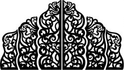 Cnc Laser Cut Wedding Screen Partition Free CDR Vectors Art
