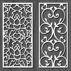 Cnc Laser Cut White Flower Bulkhead Free CDR Vectors Art