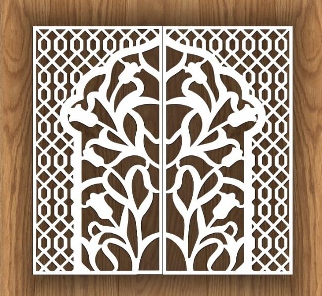Laser Cut Decorative Screen Design Free CDR Vectors Art