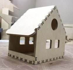 Cnc Laser Cut Small House Assembly Model Free CDR Vectors Art