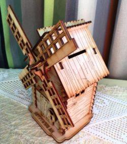 Cnc Laser Cut Windmill House Free CDR Vectors Art