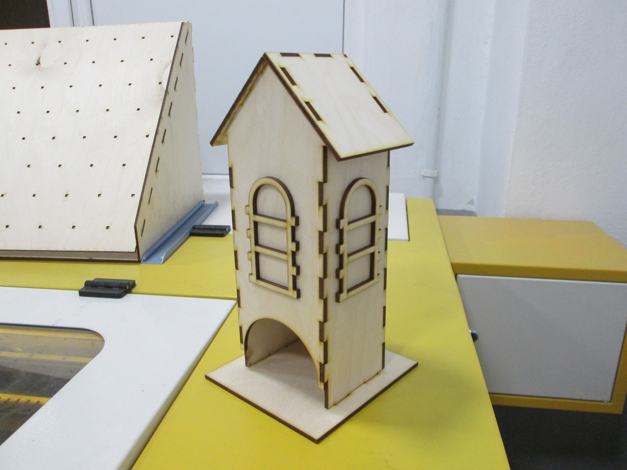 Simple Tea House Plywood Laser Cutter Project Free CDR Vectors Art