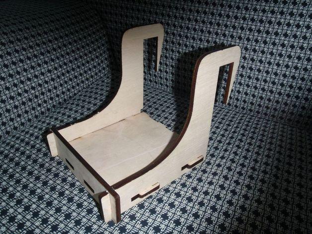 Laser Cut Wooden Shelf Bed Hanger Free DXF File