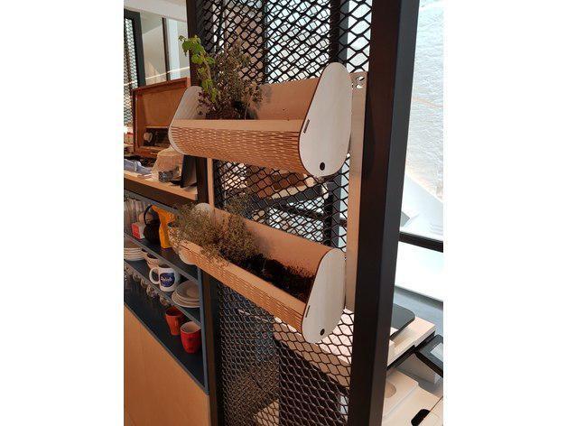 Wallmount Wooden Shelf Free DXF File