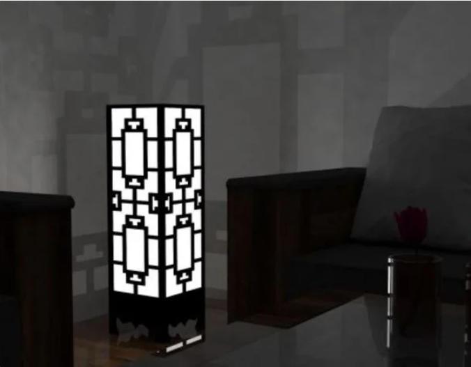 Lamp Wall Corner Free CDR Vectors Art