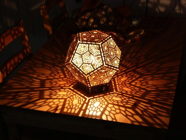 Dodecahedron Lamp Free DXF File