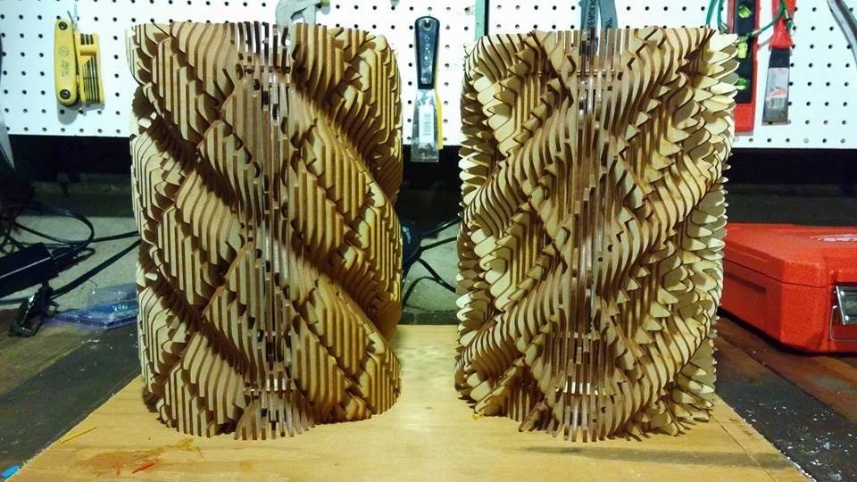 Laser Cut Lamp Shades Free DXF File