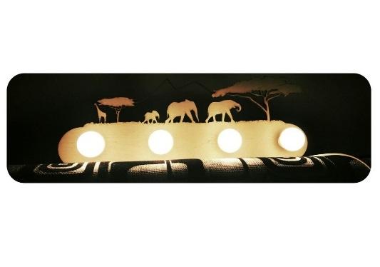 Jungle Animal Lamp Safari Lamp Laser Cutting Template Free CDR Vectors Art