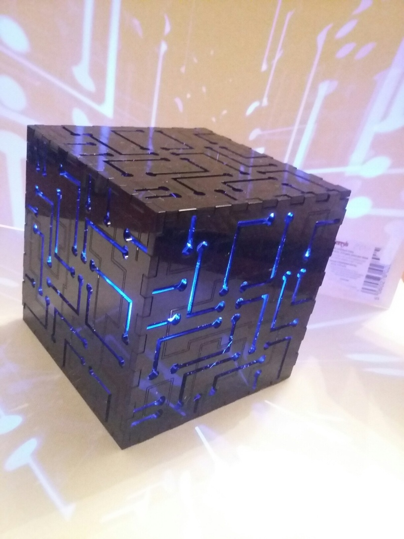 Laser Cut Cube Night Light Free CDR Vectors Art