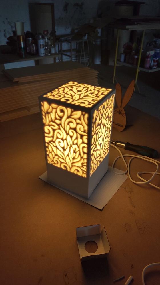 Laser Cut Decorative Night Light Lamp Free CDR Vectors Art