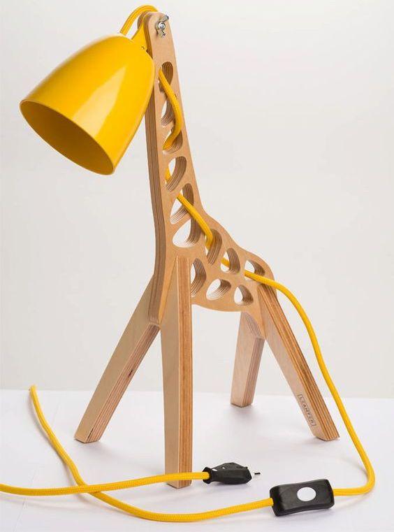 Laser Cut Giraffe Lamp Template Free CDR Vectors Art