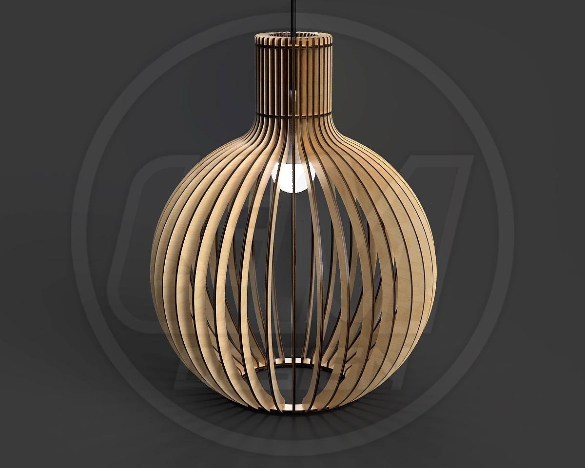 Laser Cut Pendant Light Chandelier Lamp Free CDR Vectors Art