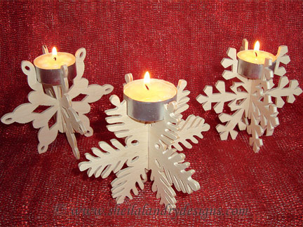 Laser Cut Snowflake Candle Holder Free CDR Vectors Art