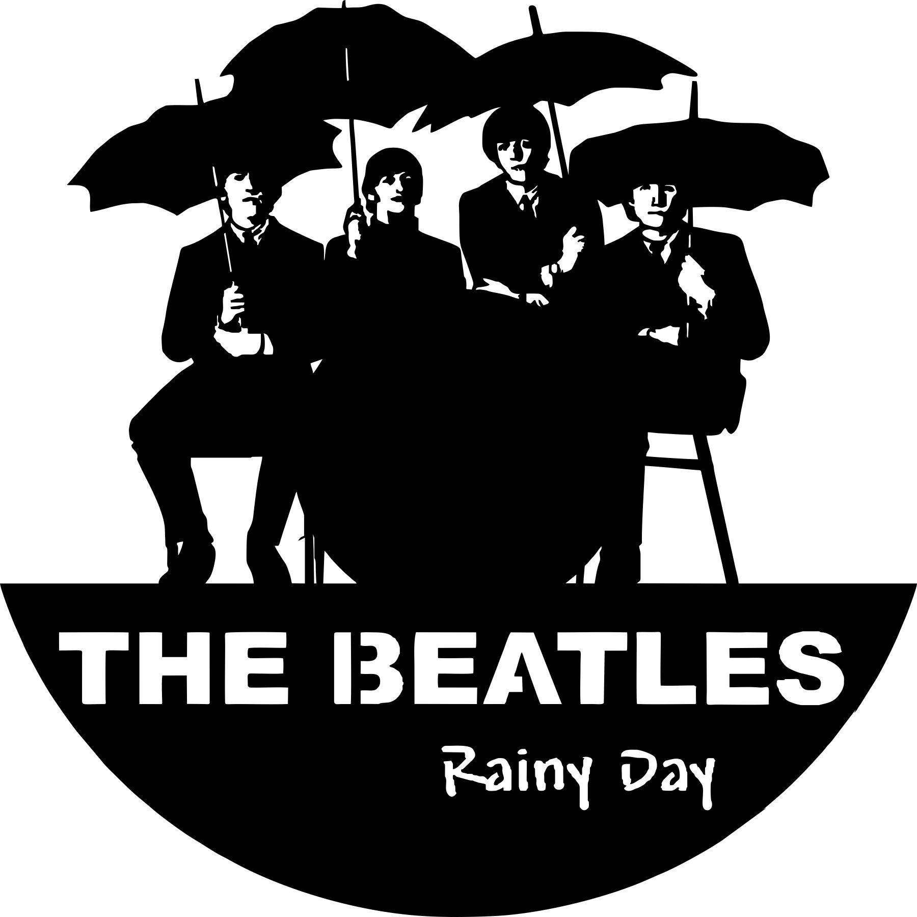 Laser Cut Epic Beatles Vinyl Wall Clocks Template Free CDR Vectors Art