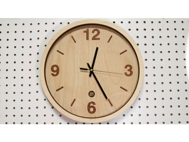 Wooden Clock Renewal Laser Cut Free DXF File