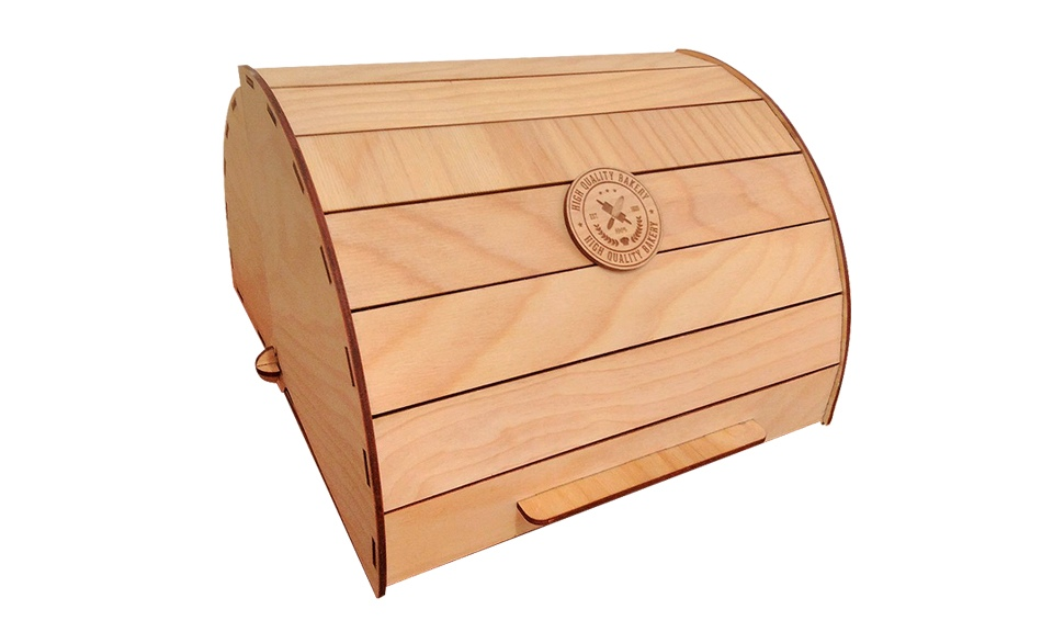 Hlebnica Wooden Box Free CDR Vectors Art