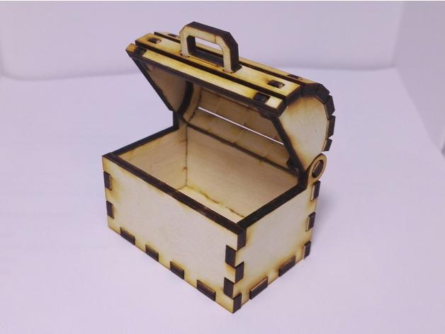 Laser Cut Toy Treasure Chest Free CDR Vectors Art
