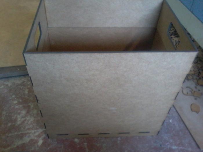 Laser Cut Trash Box Wood Trash Bin Free DXF File