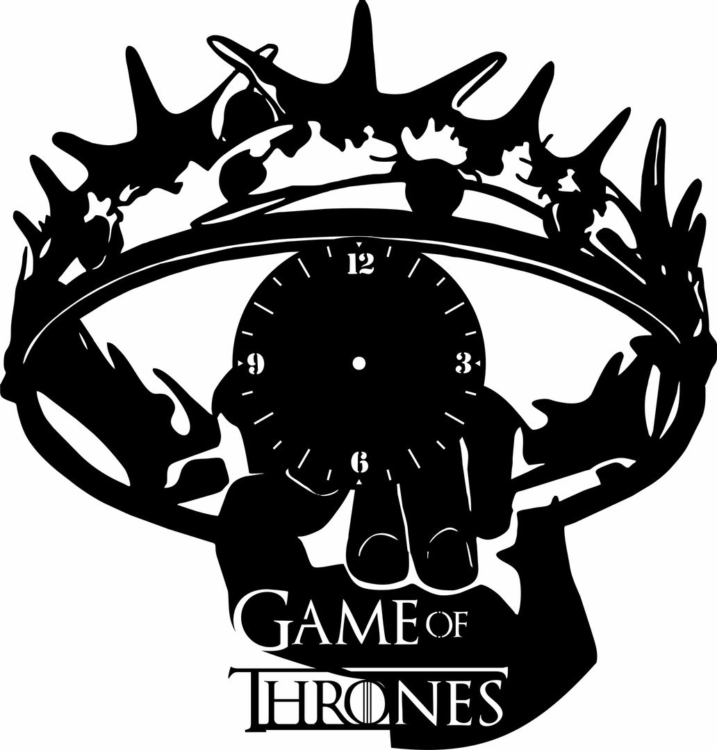 Crown Logo Game Of Thrones Clock Free CDR Vectors Art