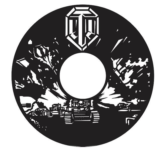 Laser Cut Tanks Vinyl Wall Clock Templates Free CDR Vectors Art