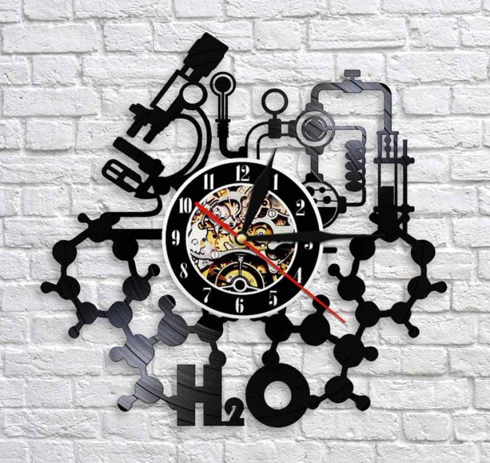 Laser Cut Chemistry Experiments Wall Clock Science Laboratory Wall Art Vinyl Record Wall Clock Free DXF File