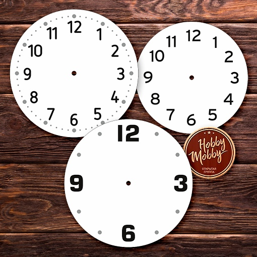 Laser Cut Dials Wall Clock Faces Free DXF File