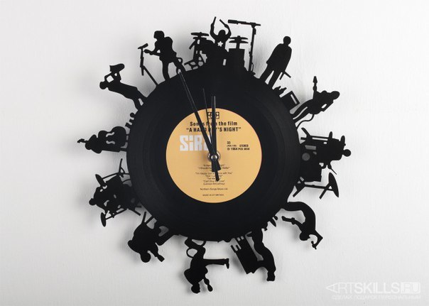 Laser Cut Musicians Vinyl Record Clock Free DXF File