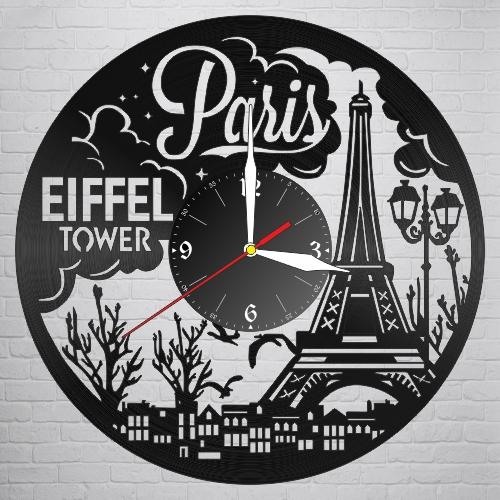Laser Cut Paris Vinyl Record Clock Free DXF File