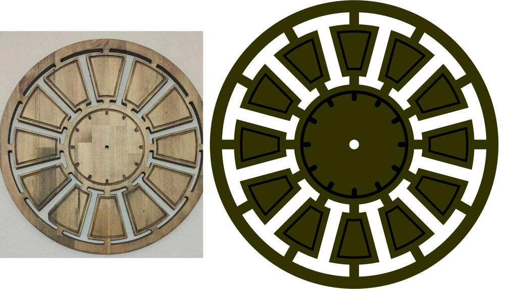 Laser Cut Round Clock Template Free DXF File